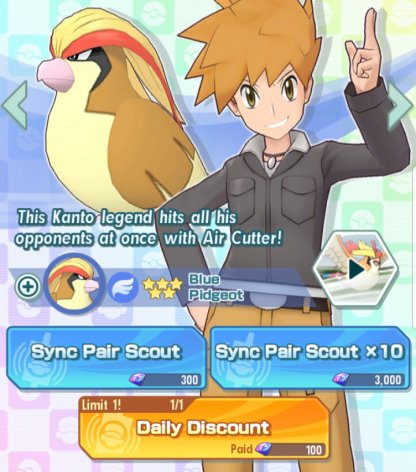 Get a Chance to Recruit Blue & Pidgeot