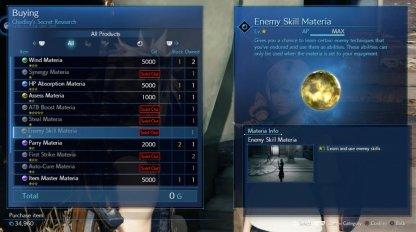 Enemy Skill Materia