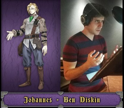 Johannes English Voice Actor - Ben Diskin