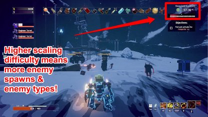 Scaling Difficulty Increases Enemy Modifiers