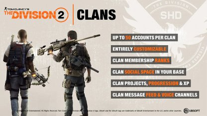 Division 2 Build Communities With In-Game Clans