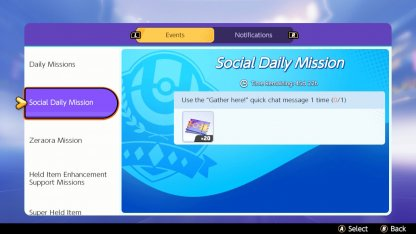 Social Daily Mission Switch