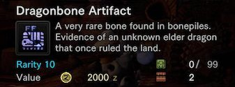 What are Dragonbone Artifacts?