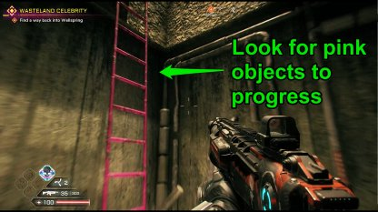 Look For Pink Objects To Progress