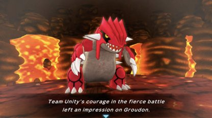 recruit groudon after the battle