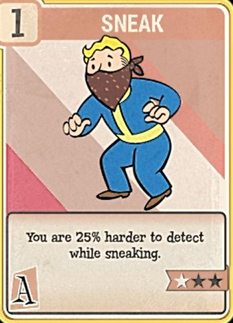 fallout 76 Perk Card Agility Sneak