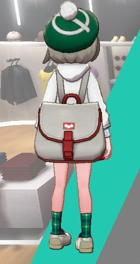 Canvas Rucksack (White/Red)
