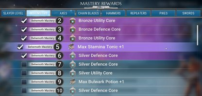 Get Cores, Inventory Increase, & Status Buffs