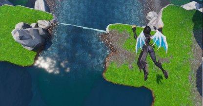 CLOSE UP Make Waterfalls as Landing Points