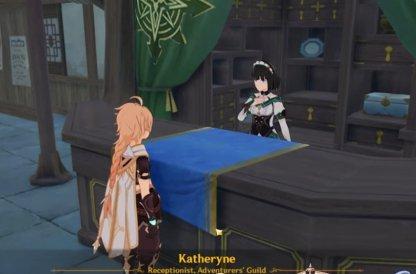 Speak To Katheryne At Liyue Harbor