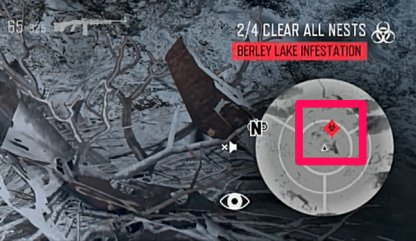 Check For Red Biohazard Mini-Map Symbols To Find Nests