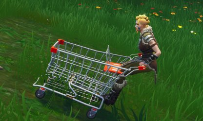 Shopping Cart Hold Down Push Button To Coast