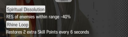 Talent Reduces Enemy RES