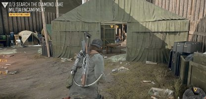 Mission With Only Walking Around The Camp