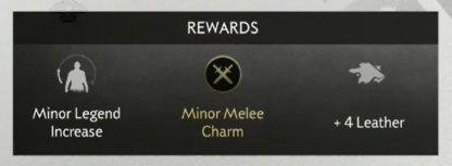 Resources, Minor Legend Increase, & Minor Charm