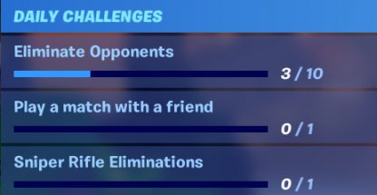 Fortnite Daily Challenge - Summary