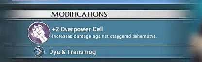 Equip Overpower & Ragehunter Cells
