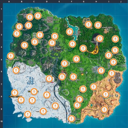 Season 10 Week 5 Vending Machine Locations