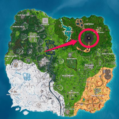 Season 8 Week 4 Secret Battle Star Location Map Location