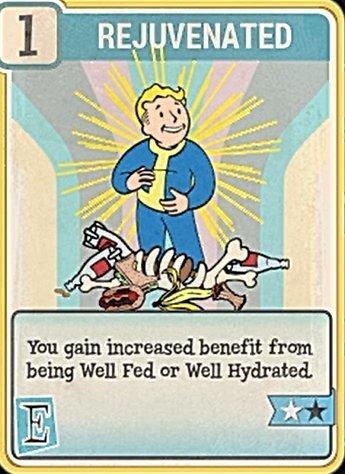 Fallout 76 Perk Card Endurance Rejuvenated