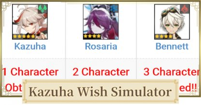 Try Your Luck With Kazuha Banner Simulator