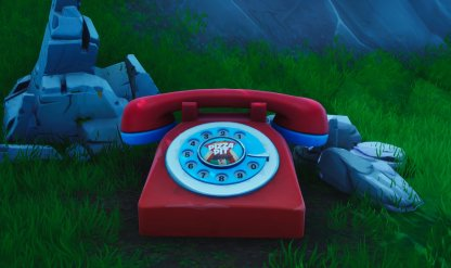 Big Telephone To Call The Pizza Pit Number Image