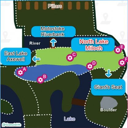 North Lake Miloch map - Dens, Location & Pokemon Spawns