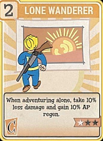 Fallout 76 Perk Card Charisma Lone Wanderer