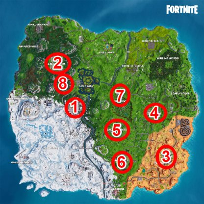 Snowflake Decorations Locations|14 Days of Fortnite