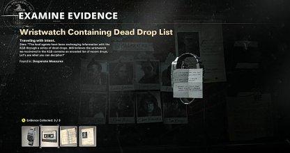 Wristwatch Containing Dead Drop List