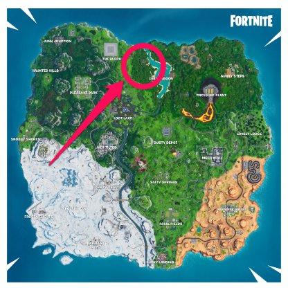 Stone Head Location (Jungle Biome) Location Map