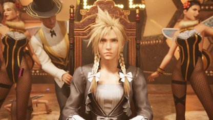 Cloud Dressed As A Female Entertainer