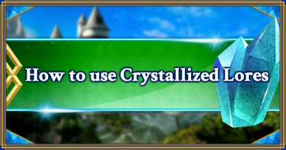 How to use Crystallized Lores