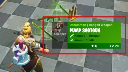 Swapping equipped items
