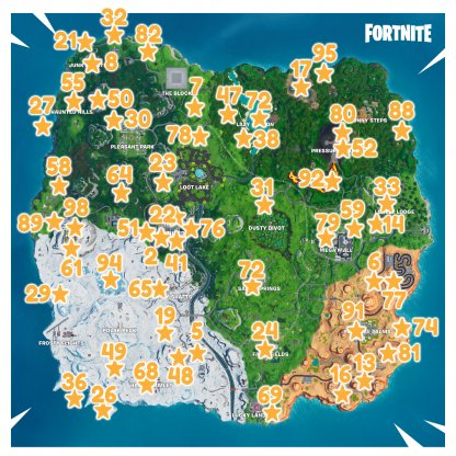 Season 9 All Fortbyte Challenges Map Locations