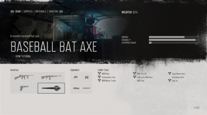 Baseball Bat Axe