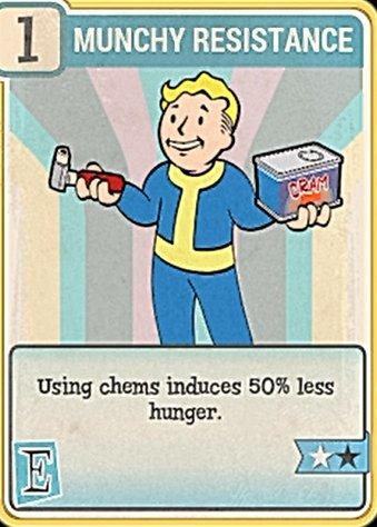 Fallout 76 Perk Card Endurance Munchy Resistance