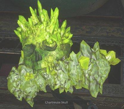 Chartreuse Skull