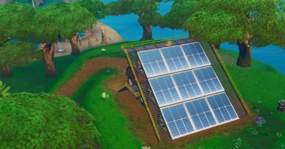 Jungle Solar Array - Location close up