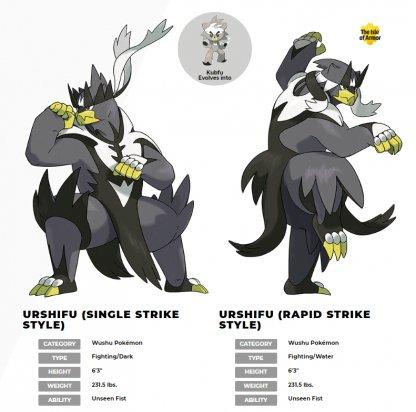 Kubfu Evolutions - Urshifu With 2 Styles