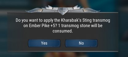 Process Needs Transmog Stone To Succeed