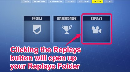 Open Your Replay Folder