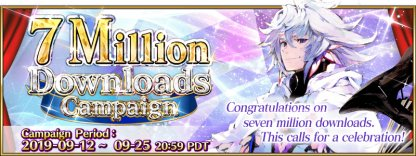 7 Million Downloads Campaign