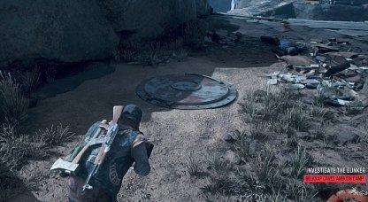 Bunker is Near Wooden Bridge