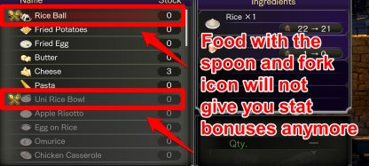 You Only Get Food Bonuses Once