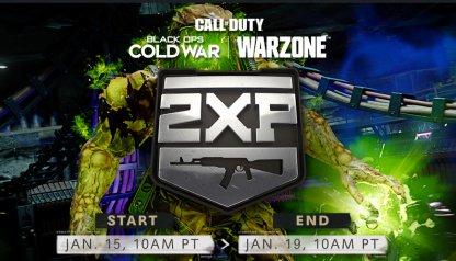 Double Weapon XP Weekend