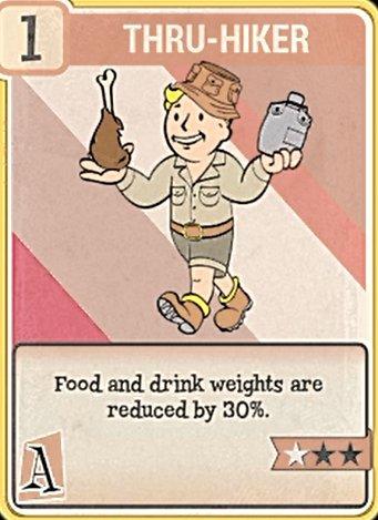 fallout 76 Perk Card Agility Thru-Hike
