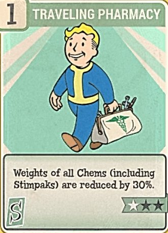 Fallout 76 Perk Card Strength Traveling Pharmacy