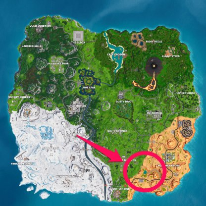 Recommended Location - Oasis MAP