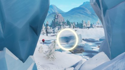 Fly Through Golden Rings - 14 Days of Fortnite Challenge